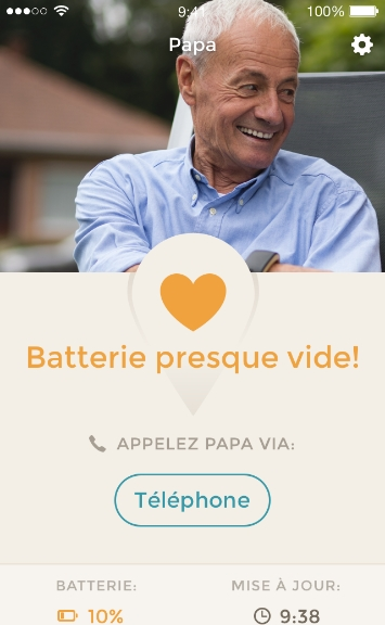 Alerte batterie faible montre alarme